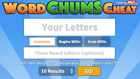 Cheats and Answers for Word Chums: The Most Accurate Word Finder Ever